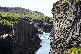 Studlagil_Canyon_137_08102021 - Looking upstream towards a pair of cascades on the Jökulsá á Brú River as I was descending into Stuðlagil Canyon