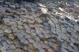 Studlagil_Canyon_175_08102021 - Closeup look at the hexagonal cross-sections of the basalt in Studlagil Canyon