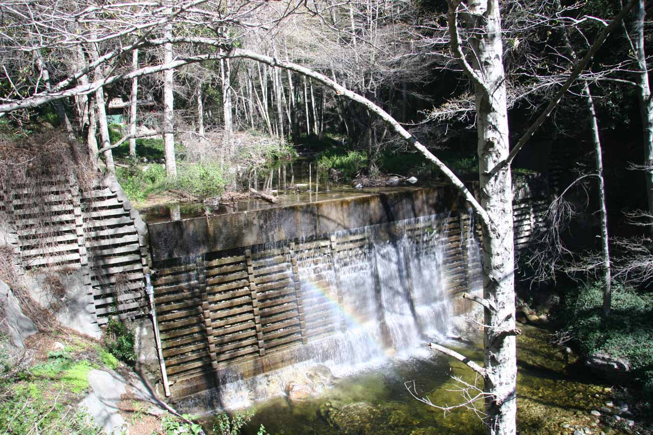 Another manmade dam with waterfall