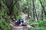 Sturtevant_Falls_043_05272019 - The crew continuing along the Sturtevant Falls Trail beneath the steep walls of Big Santa Anita Canyon during our Memorial Day 2019 visit