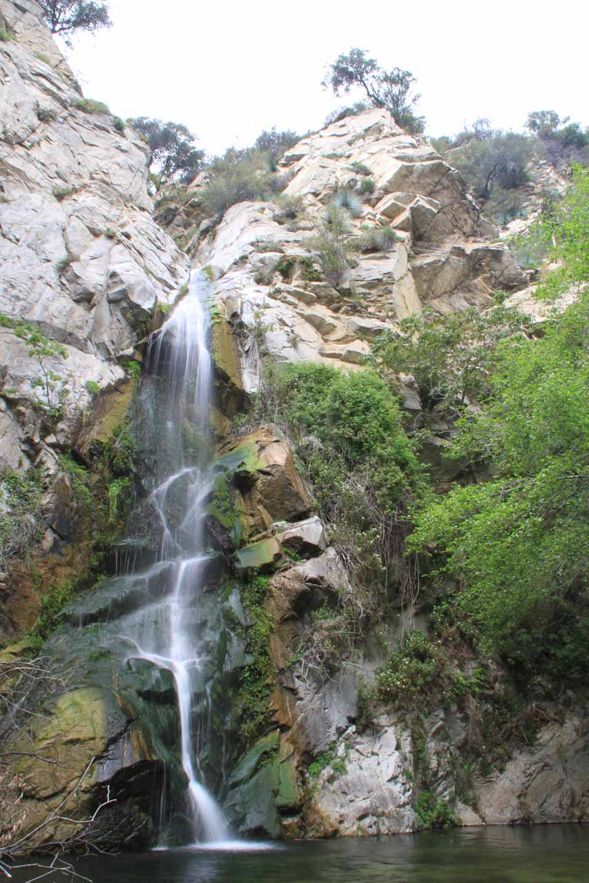 Composed frontal view of Sturtevant Falls from our most recent visit in 2013