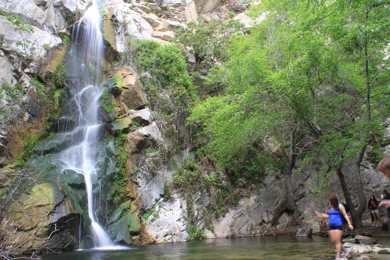 A hiker managed to time her visit well for Sturtevant Falls