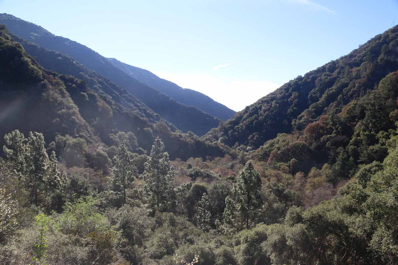 Looking down Big Santa Anita Canyon as we were getting closer into the canyon itself