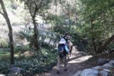Sturtevant_Falls_15_010_01182015 - The family approaching the footbridge at the bottom of the descent from Chantry Flat during our Sturtevant Falls hike in January 2015