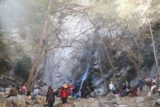 Sturtevant_Falls_15_117_01182015 - Looking back at the base of Sturtevant Falls and the very busy scene as we were about to leave on our January 2015 visit