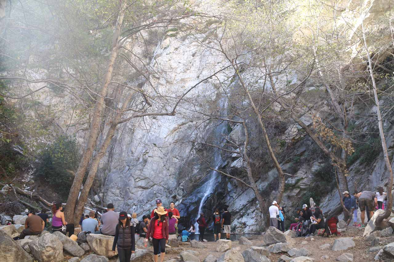 One last look back at Sturtevant Falls and the crowd before it