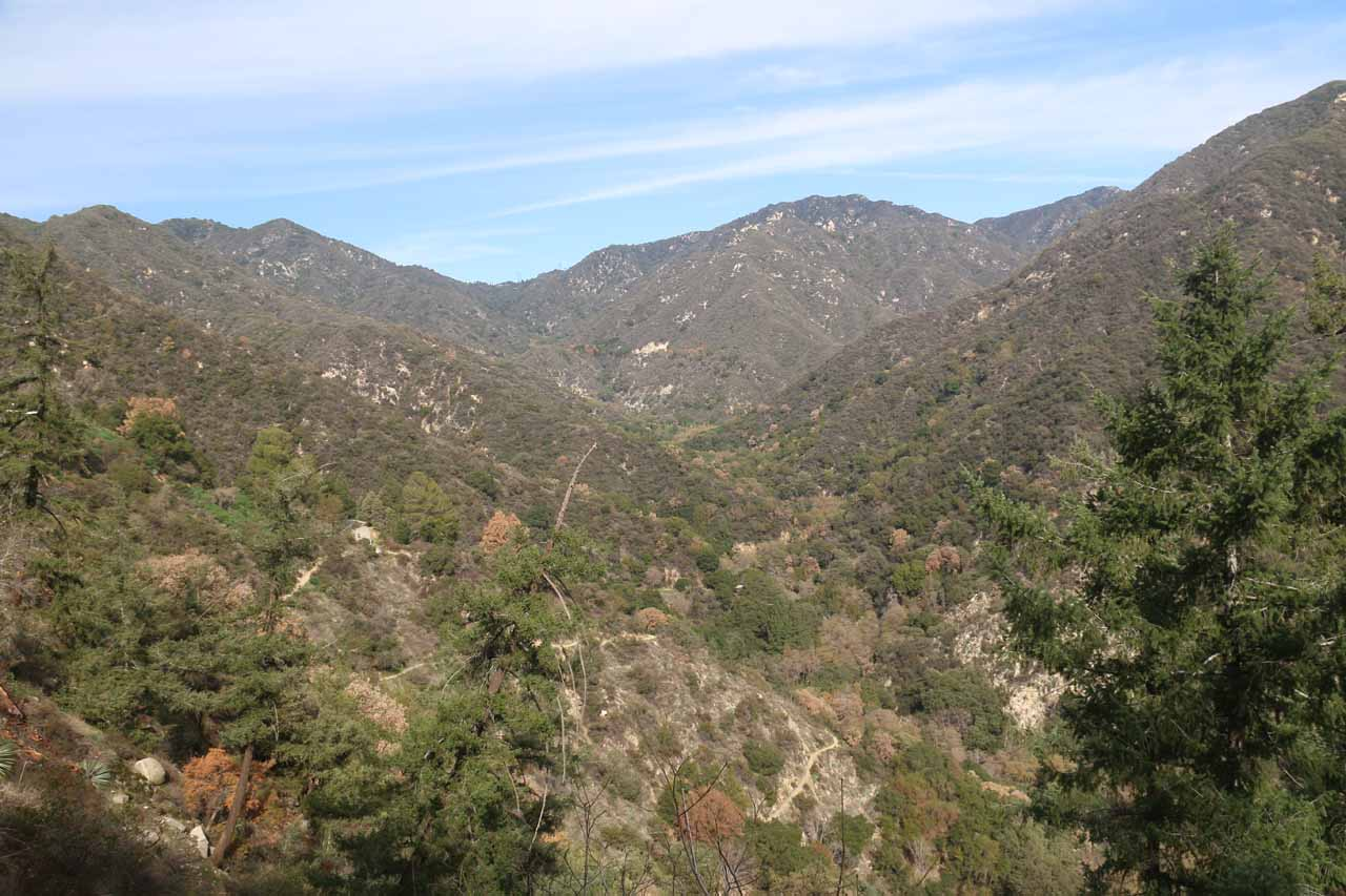 Looking back up towards Big Santa Anita Canyon as we were making our way up to Chantry Flat