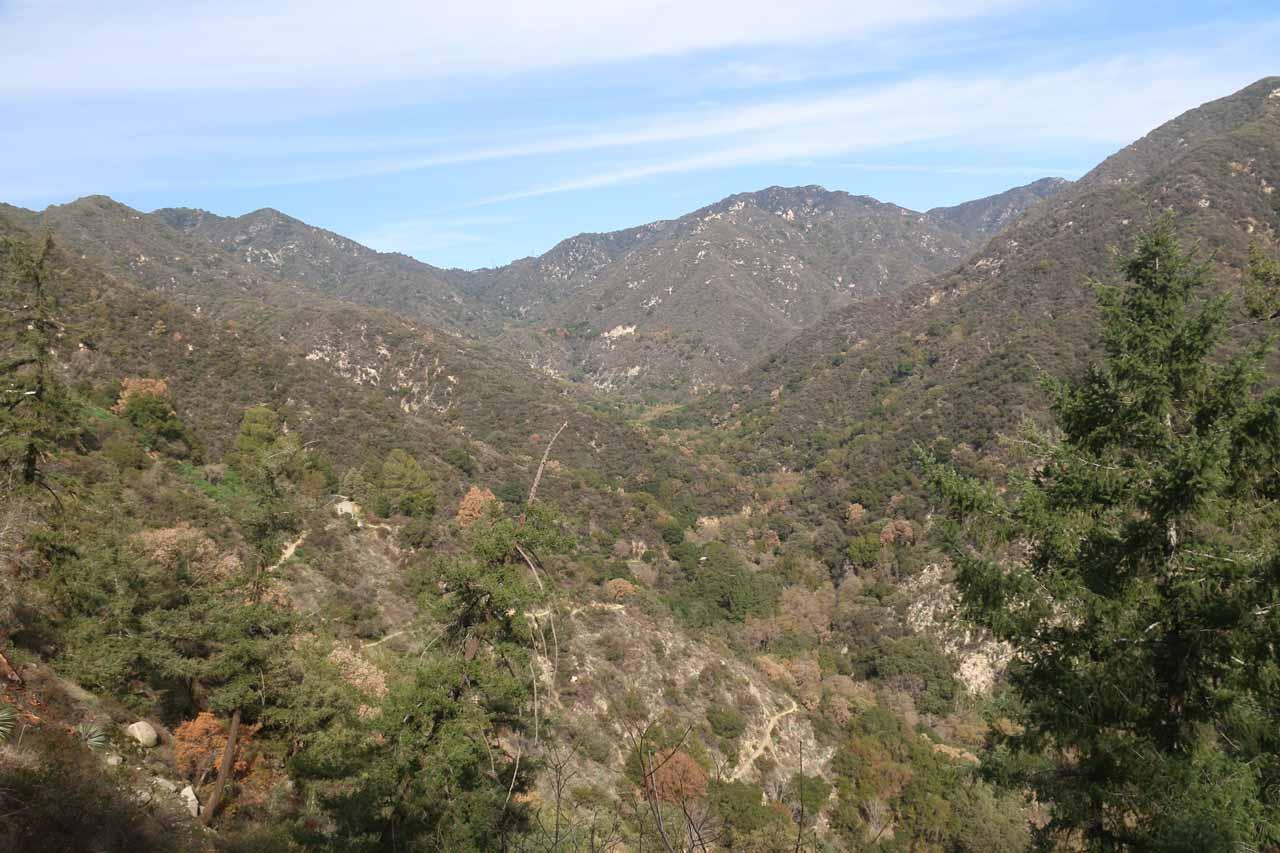 Looking back up towards Big Santa Anita Canyon as we were making our way up to Chantry Flat