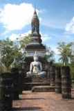 Sukhothai_166_12312008 - Buddha and chedi