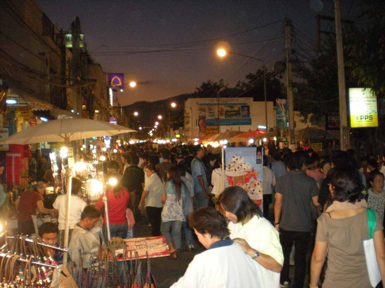 We had based ourselves in Chiang Mai for the part of our Northern Thailand tour that included Doi Inthanon, and that let us experience night markets like the Sunday Walking Street