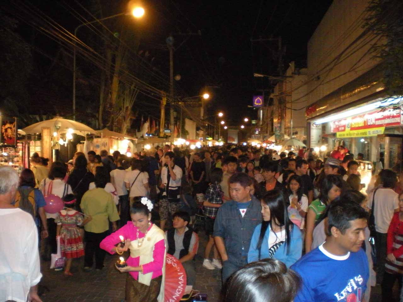 More chaos at the Sunday Night Walking Street in Chiang Mai