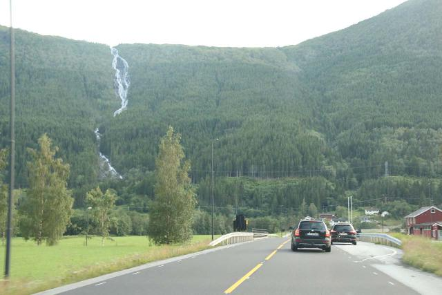 Sunndalsora_015_07162019 - While driving west from Sunndalsøra along the Fv62, after leaving the long tunnel, I noticed this big waterfall possibly on the Erstadelva (so it would be the Erstadfossen?)