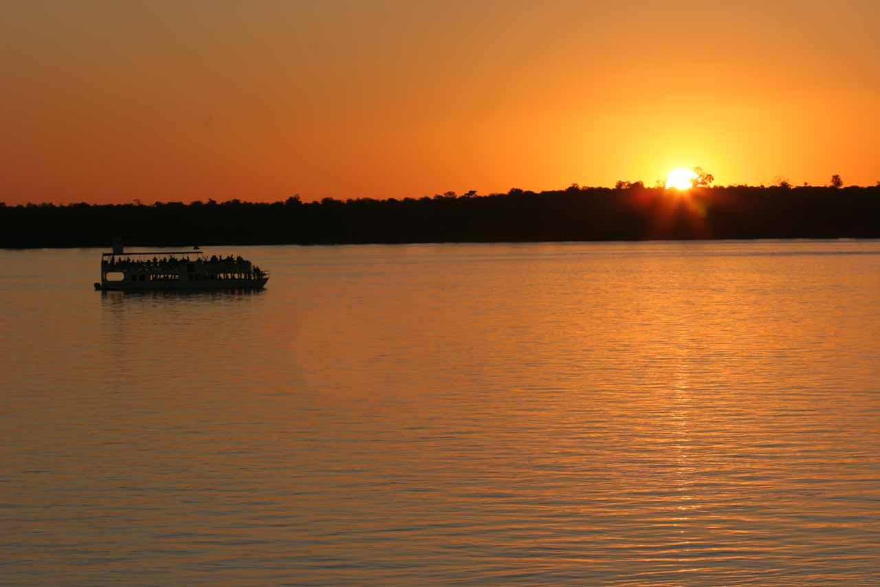 Sunset Cruise above Victoria Falls
