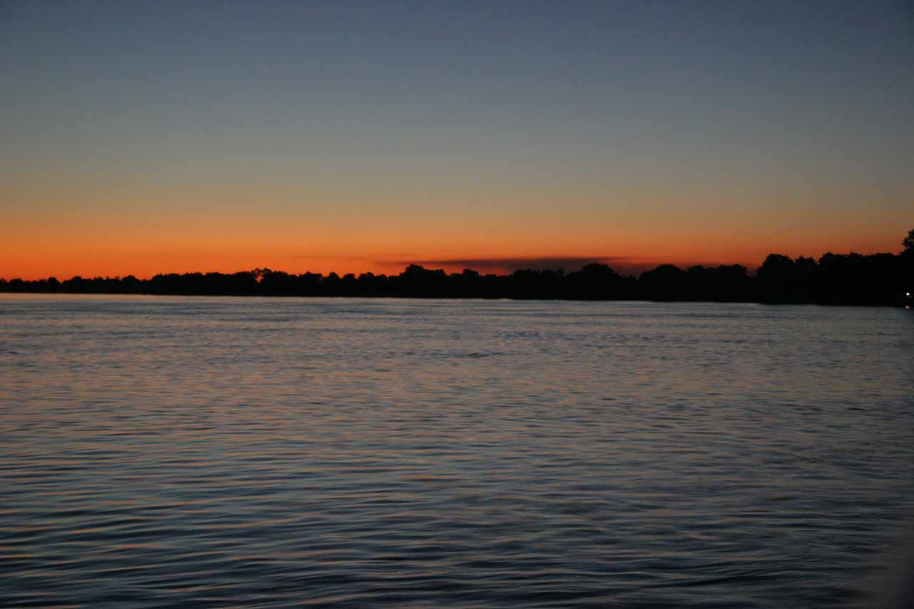 Dusk over the Zambezi River