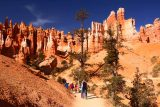 Sunset_Sunrise_Loop_160_04032018 - Approaching the steep ascent back up to Sunrise Point in the presence of attractive hoodoos towering over us