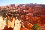 Sunset_Sunrise_Loop_230_04032018 - Attractive view of the hoodoos of Bryce Canyon from Sunrise Point after successfully making the ascent back up to the rim
