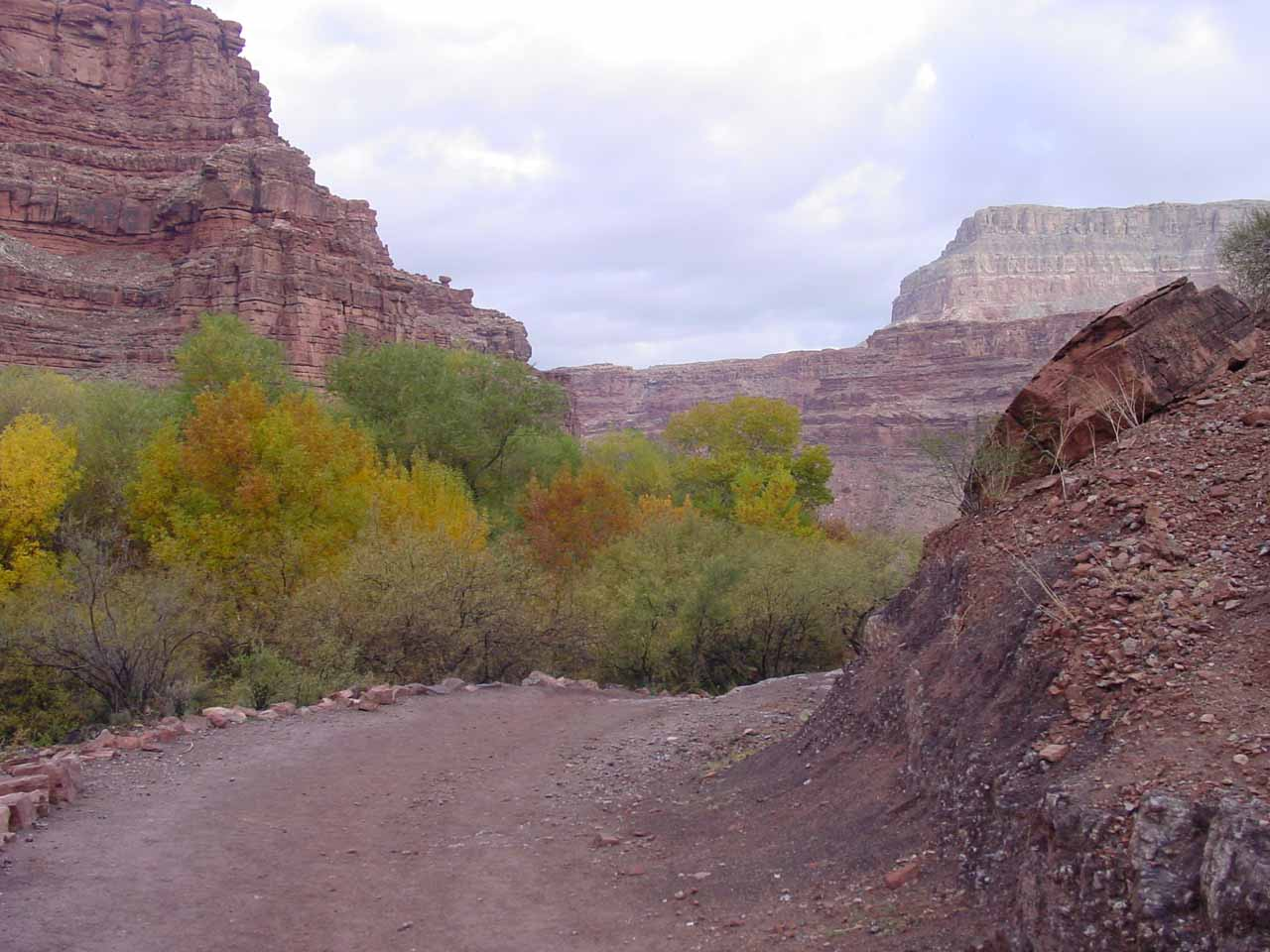 Starting the hike out of Supai and back towards the waterfalls