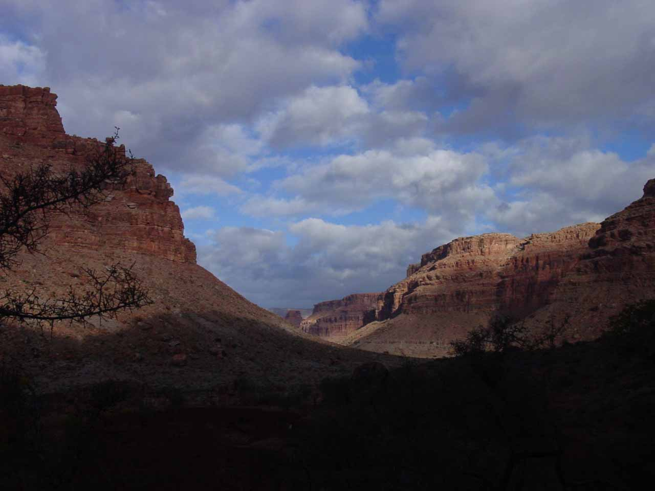 Further on the trail in the two miles between Supai and Havasu Falls