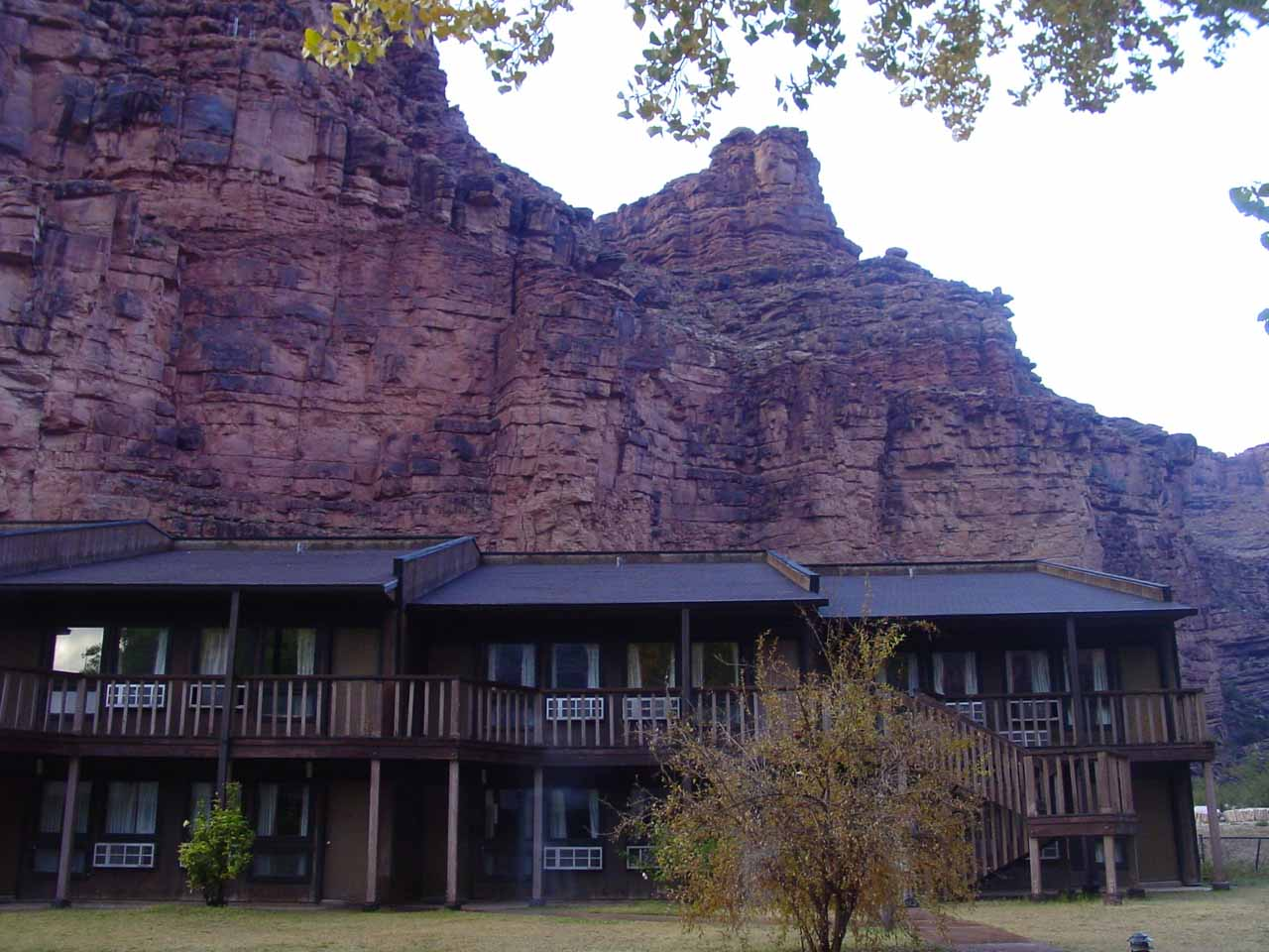A last look at the Havasupai Lodge before leaving