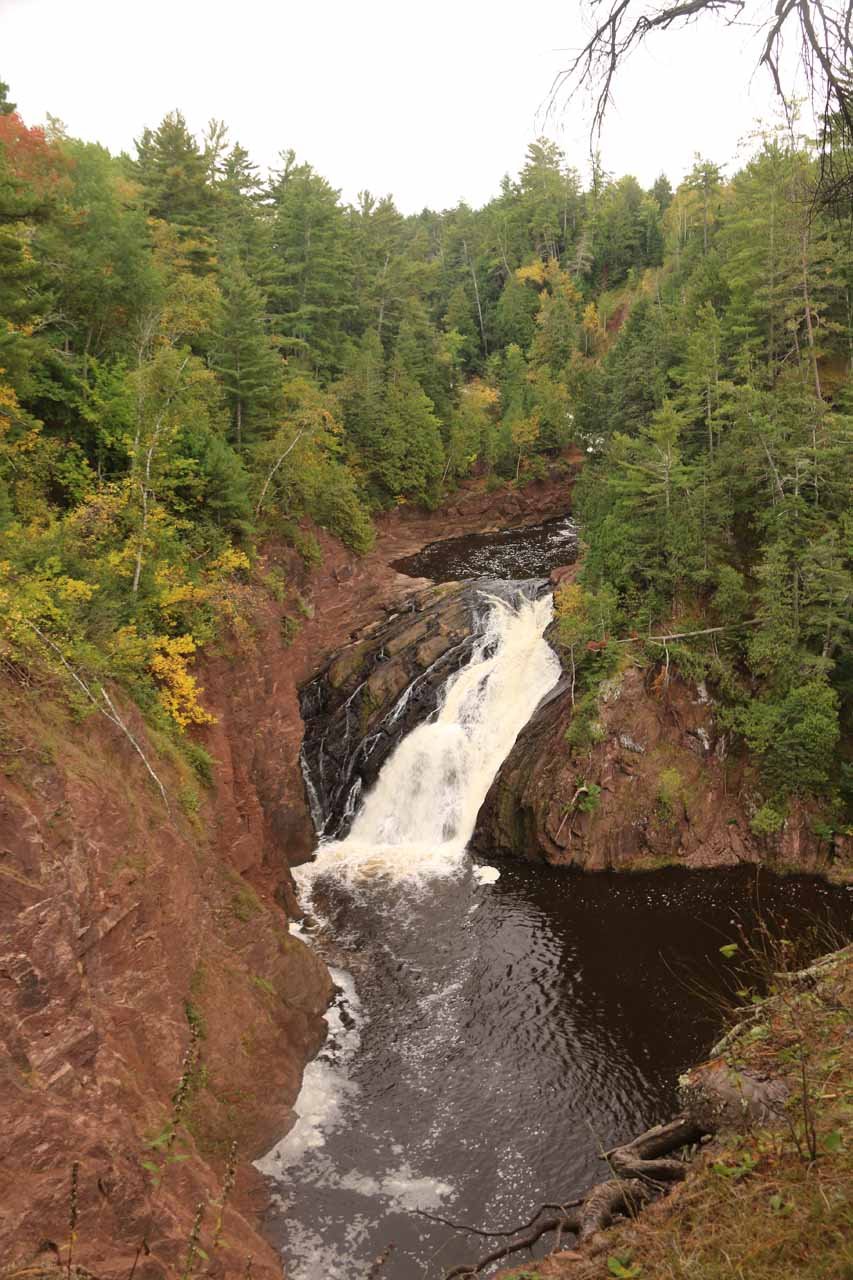 Superior Falls and its big plunge pool nestled in a steep gorge