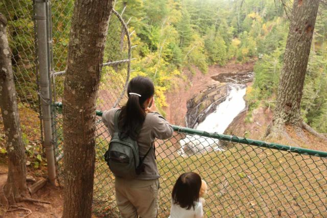 Superior_Falls_015_09282015 - Julie and Tahia checking out Superior Falls from the sanctioned overlook
