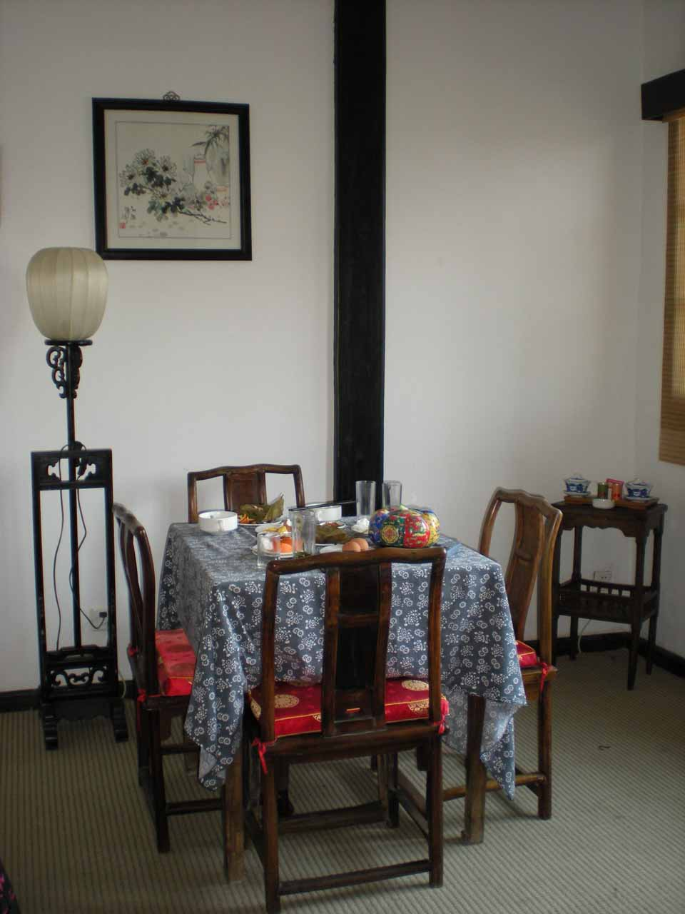 Inside our accommodation at Suzhou