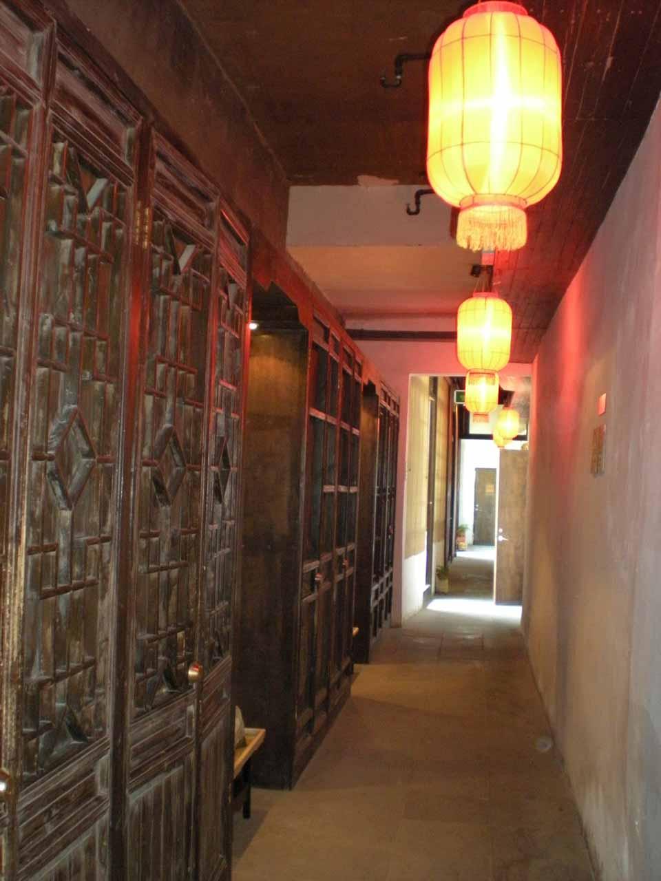 Walking the corridors of the Suzhou accommodation