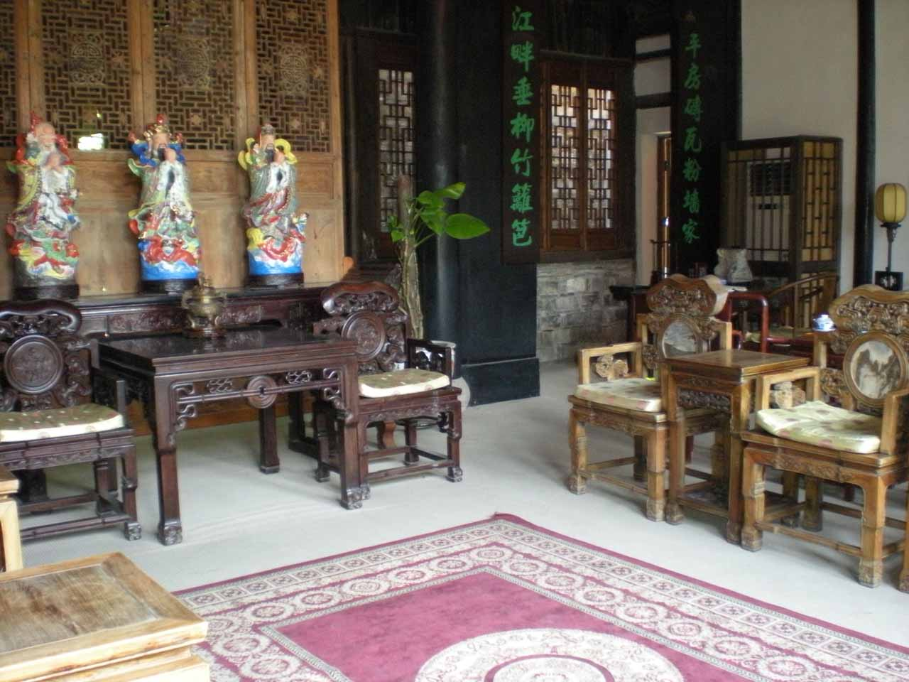 The elaborate lobby of our accommodation in Suzhou