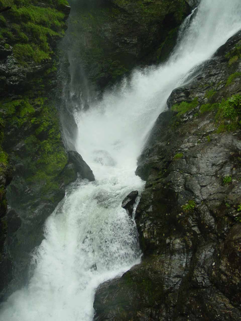 Closer examination of Svandalsfossen as we were walking up the steps to get back up to the surface of Rv520