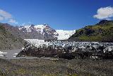 Svinafellsjokull_035_08082021 - Looking down at the dirty ice at the terminus of Svinafellsjokull