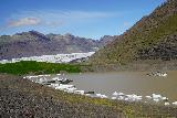 Svinafellsjokull_049_08082021 - Looking across the base of the large lagoon left behind by Svinafellsjokull and the Skaftafellsjokull in the background behind it