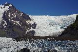 Svinafellsjokull_068_08082021 - Looking across the more bluish part of the Svinafellsjokull and its steeply descending parts