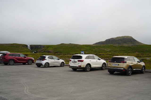 Svodufoss_002_08172021 - Context of the new car park at the trailhead for Svöðufoss