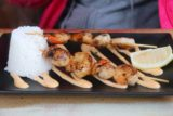 Swansea_014_11252017 - The skewer of prawns and scallops served up at Salt Shaker in Swansea