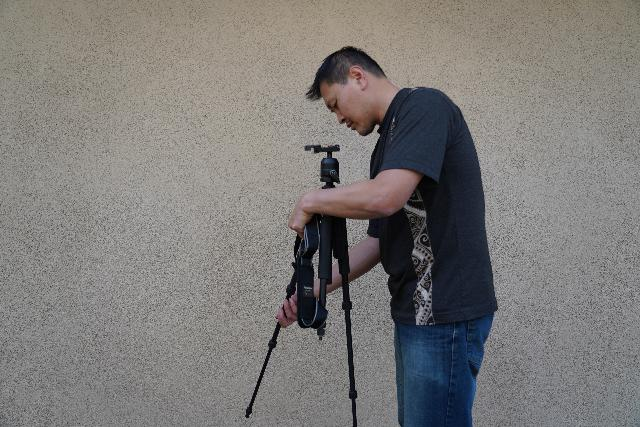 that's me patiently setting up my Giottos tripod