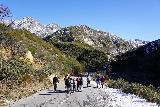 Switzer_Falls_019_12282019 - A surprising number of people on this closed trail despite the snow and despite the added hiking necessary due to the lower car park for Switzer Falls being unaccessible