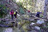 Switzer_Falls_030_12282019 - Crossing streams while trying to avoid getting wet en route to Switzer Falls