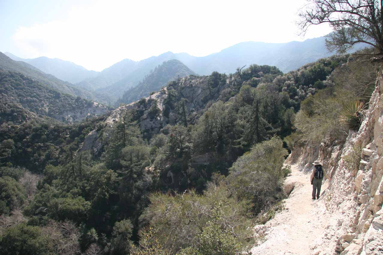 The rugged wilderness of the San Gabriel Mountains