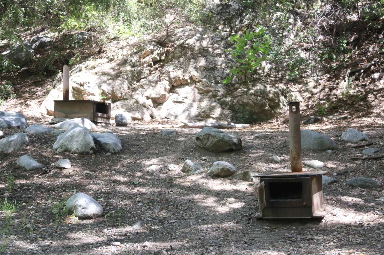 These stoves seemed to hint at some history of use, but more importantly, they served as a marker for when to turn right at the trail junction to continue hiking towards the base of Switzer Falls