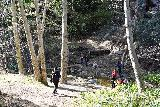 Switzer_Falls_035_12282019 - The last crossing of Arroyo Seco near the three stoves before reaching the ledge trail skirting Bear Canyon, which contained all three main drops of Switzer Falls