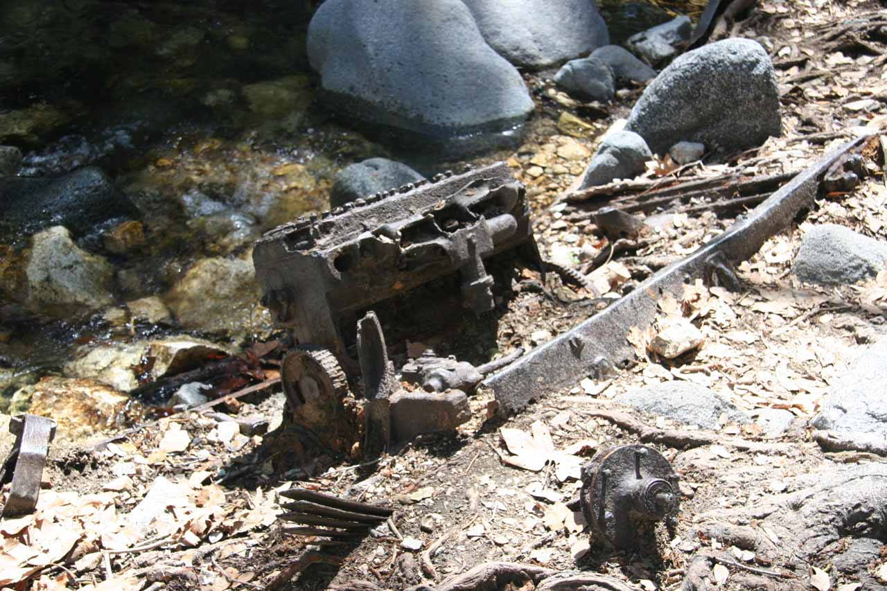 We noticed this old piece of machinery by the creek