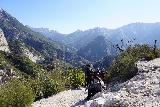Switzer_Falls_049_12282019 - The familiar scenic vista from the trail junction where the trail to Switzer Falls branches off from the Gabrielino Trail