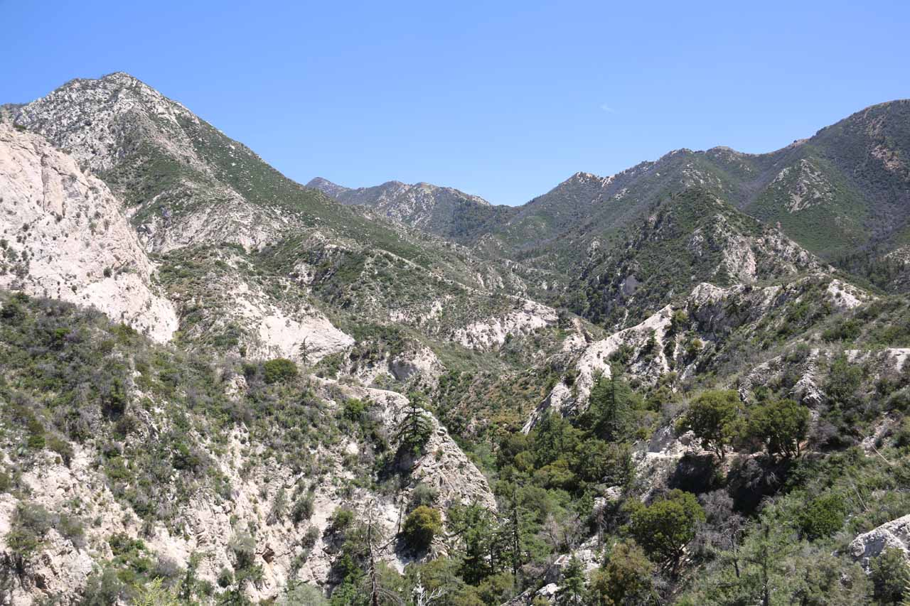 This was the gorgeous canyon scenery at the crest of the Switzer Falls Trail (or Gabrielino Trail)