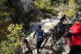 Switzer_Falls_070_12282019 - Scrambling beyond the Lower Switzer Falls and encountering perhaps the riskiest part of the scramble