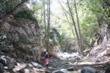 Switzer_Falls_072_04232016 - Julie and Tahia hiking alongside Arroyo Seco as we made our way upstream to the Switzer Falls in April 2016