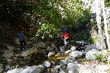 Switzer_Falls_074_12282019 - Continuing the scramble as we scrambled out of the daylight and into the shadows of the deep canyon en route to the main Switzer Falls