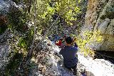 Switzer_Falls_110_12282019 - The scary scramble to get past the Lower Switzer Falls with the dropoffs close by