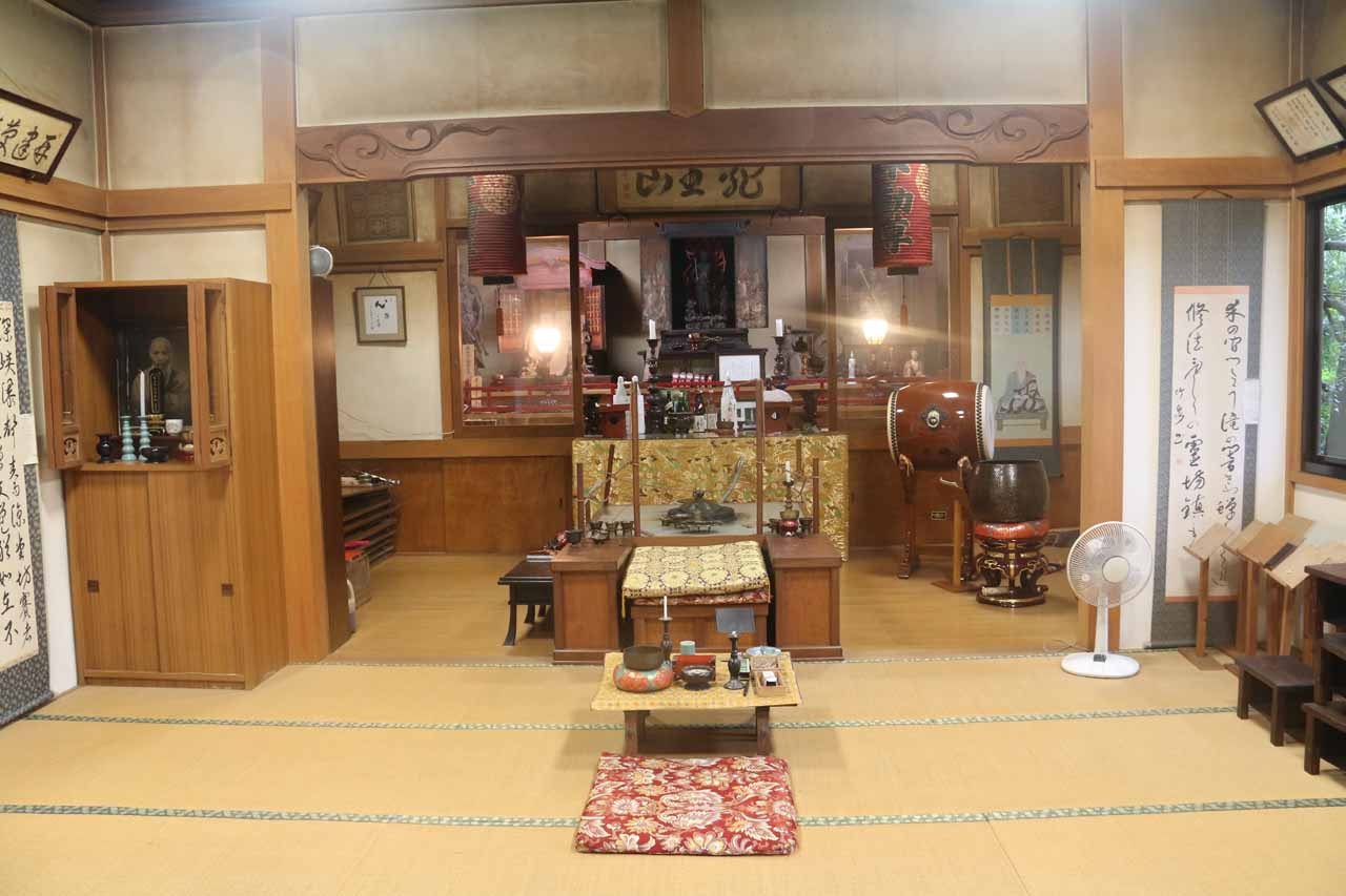 Inside the smaller shrine
