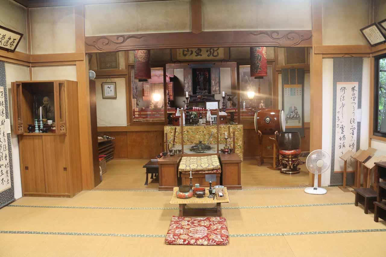 Inside the smaller shrine