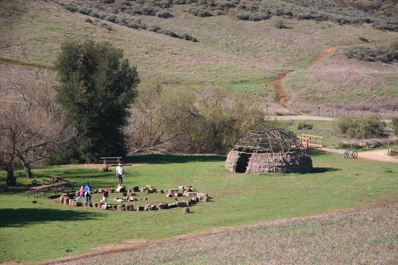 Some Native American structures that I believed was part of the Satwiwa Native American Natural Area